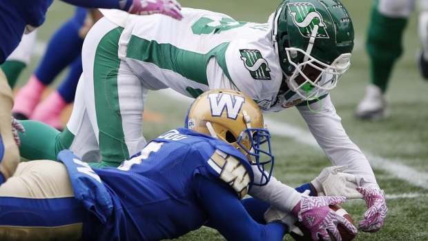 Turnovers will be key when Riders host Bombers in West Division semifinal Article Image 0