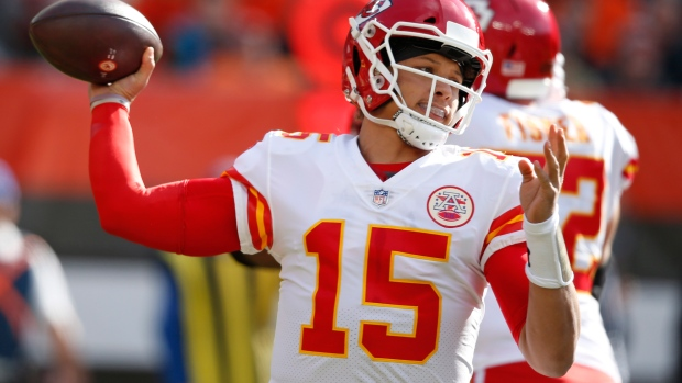 Chiefs  Mahomes continues to rewrite record books. The Canadian Press. Patrick  Mahomes 86664ffbd