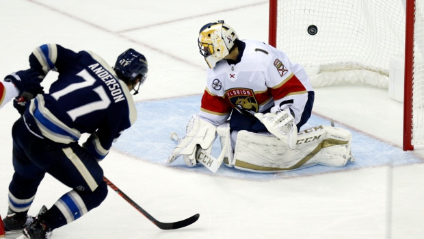 72958177545 Blue Jackets come from behind to rout Panthers - TSN.ca