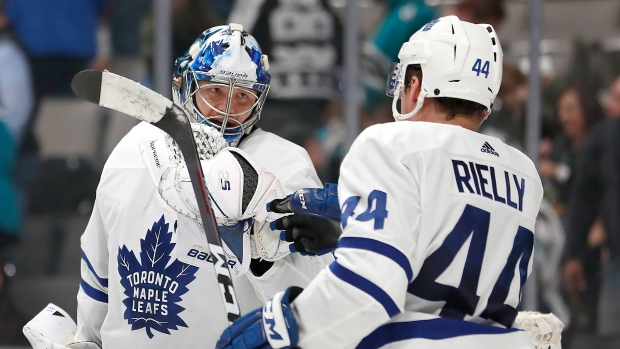 Frederik Andersen and Morgan Rielly