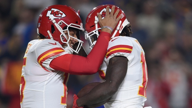 Patrick Mahomes and Tyreek Hill