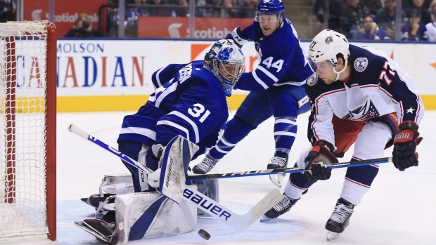 Maple Leafs   MVP  Andersen sparks win over Blue Jackets - TSN.ca d27dbb32e