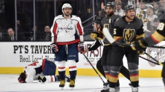 Ryan Reaves reacts after hit on Tom Wilson