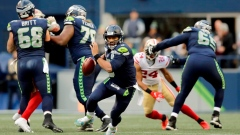 Russell Wilson jokes about shoe toss against 49ers Article Image 0