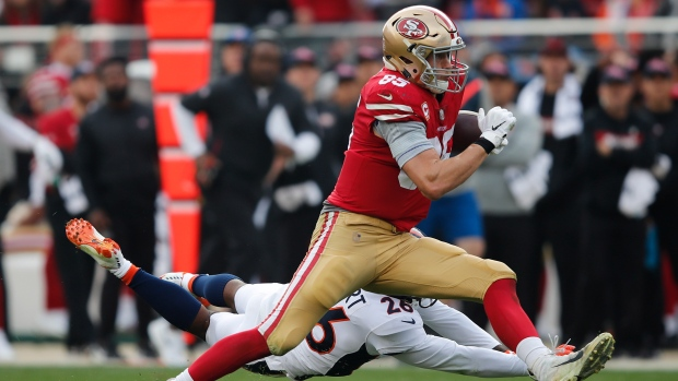 ef102c929 Kittle s big day helps lift 49ers over Broncos - TSN.ca