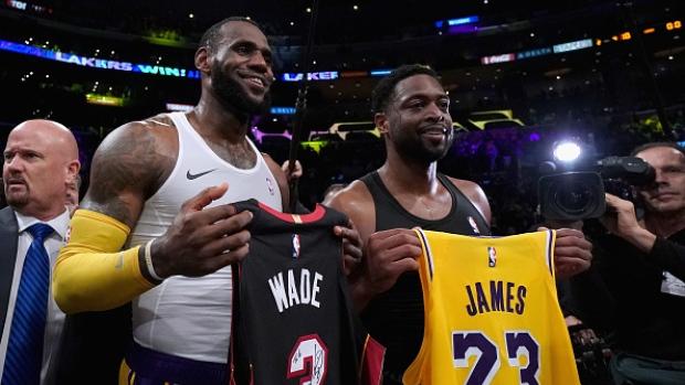 142c47d65 LeBron s Lakers edge Wade s Heat in final meeting - TSN.ca