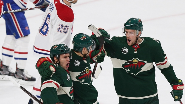 Dumba scores twice, Wild crush Canadiens 7-1