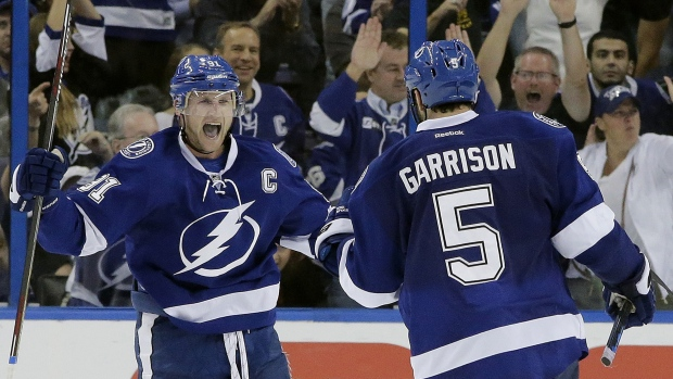 Steven Stamkos and Jason Garrison