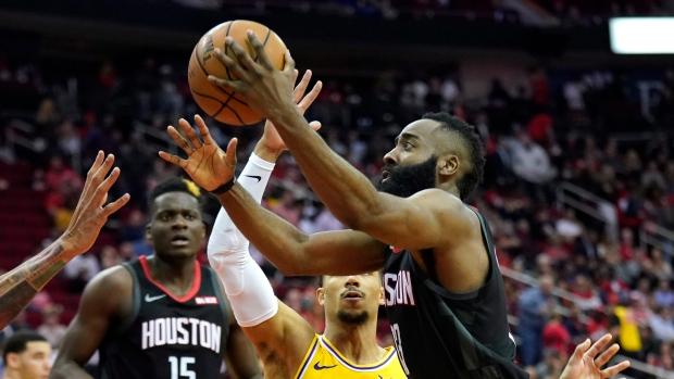 b604867cf600 Harden s 50 leads Rockets past Lakers - TSN.ca