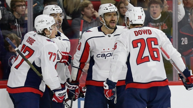 ffc547a4538 Ovechkin nets second straight hat trick in Caps  win - TSN.ca