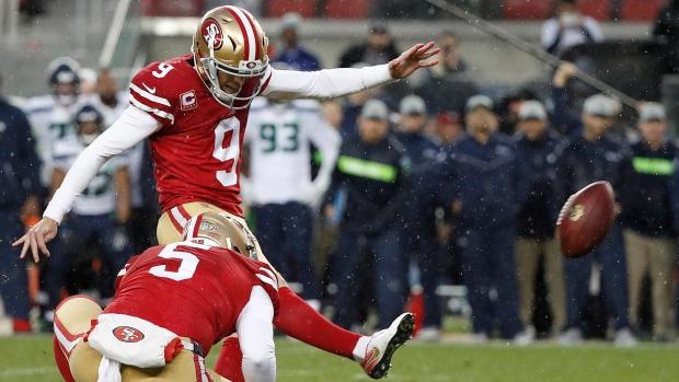 4b421083 Gould's OT field goal snaps 49ers' 10-game skid vs. Seahawks - TSN.ca