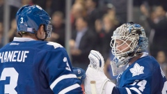 Dion Phaneuf and James Reimer