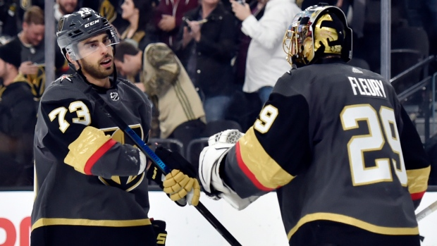 Pirri s goal lifts Golden Knights over Avalanche. The Canadian Press. Brandon  Pirri Marc-Andre Fleury f594aea24
