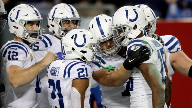 Indianapolis Colts celebrate