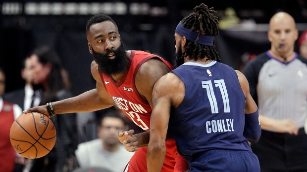 31ac31bc6ba9 Harden leads Rockets over Grizzlies - TSN.ca