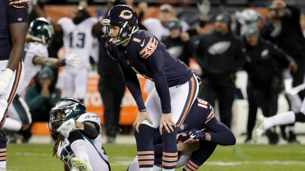 Chicago Bears sign kicker to compete with Cody Parkey