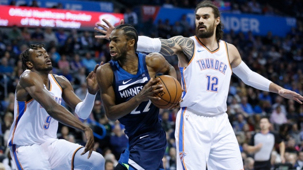 e10a7a71d Saunders wins first game as T Wolves top Thunder - TSN.ca