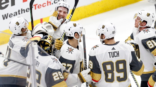 Shea Theodore Vegas Golden Knights Celebrate