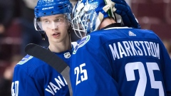 Canucks rookie Elias Pettersson 'feeling good' after knee injury Article Image 0