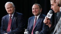 NHLPA's Donald Fehr and NHL commissioner Gary Bettman