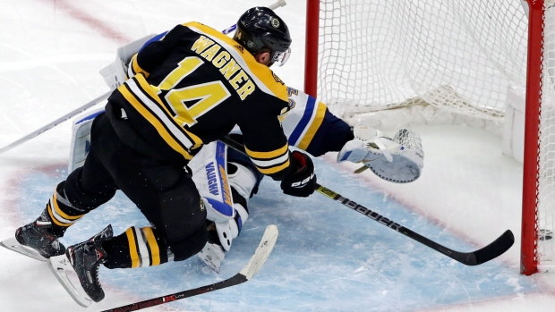 578758bfb Rask ties Bruins record for wins in victory over Blues - TSN.ca