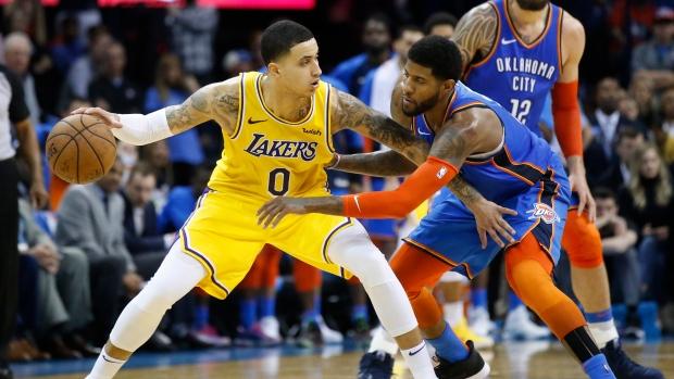 43f7d7d4250 Kuzma scores 32 as Lakers top Thunder in OT - TSN.ca