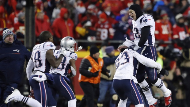 New England Patriots celebrate