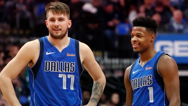 Luka Doncic and Dennis Smith Jr.