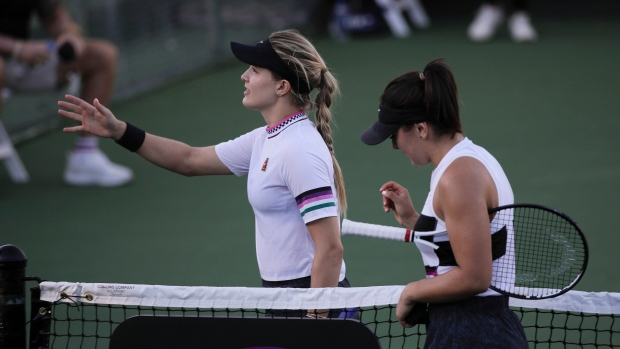 Eugenie Bouchard and Bianca Andreescu