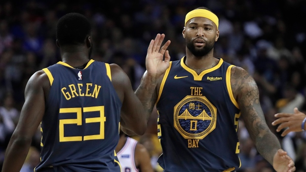 check out a23ee f3b99 Golden State Warriors centre DeMarcus Cousins will be active ...