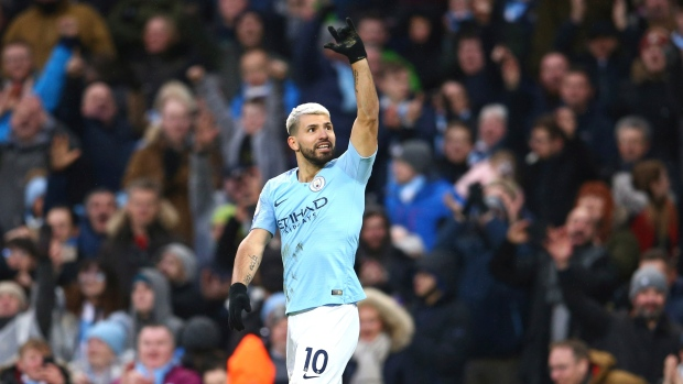 Aguero's hat trick leads Man City to victory over Arsenal