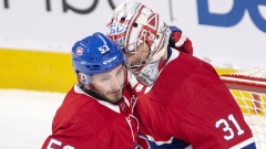 Victor Mete and Carey Price
