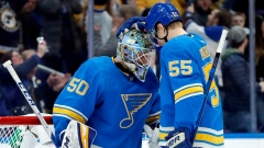 Jordan Binnington and Colton Parayko
