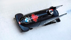 Dearborn: Quite the rush going down the track in a bobsled for the first time