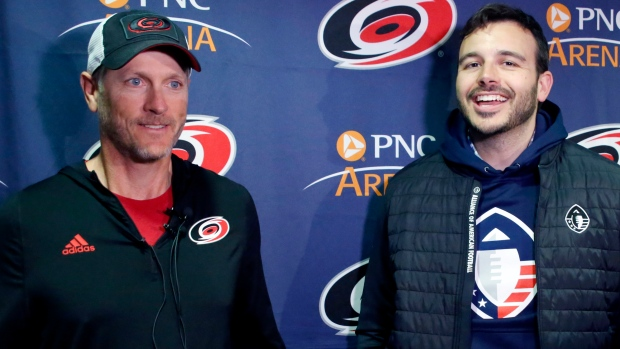 Hurricanes owner Tom Dundon, AAF co-founder and CEO Charlie Ebersol