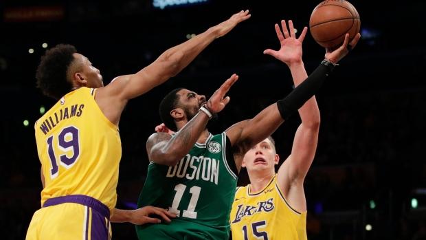 2032b7642ba Irving propels Celtics past LeBron s Lakers - TSN.ca
