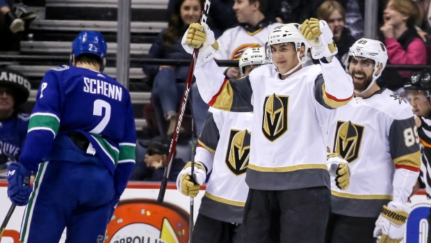 huge selection of 02efa 482b8 Stone scores in Knights' rout of Canucks - TSN.ca