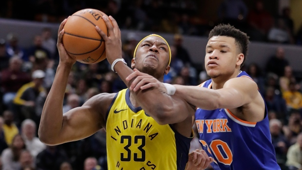 Myles Turner and Kevin Knox