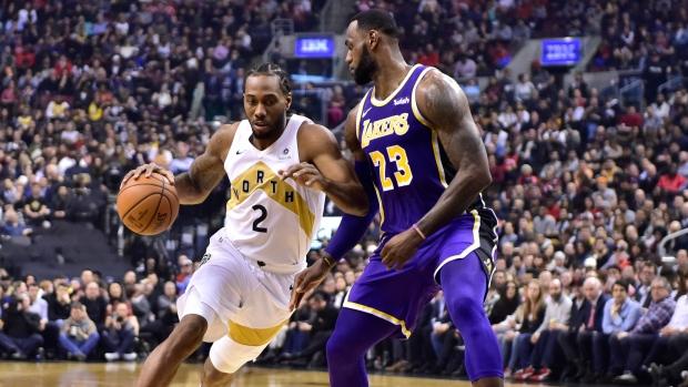 b43c0703a41 Leonard scores 25 as Raptors cruise to win over Lakers - TSN.ca