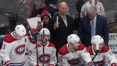 Claude Julien and Montreal Canadiens bench