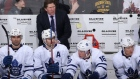 Mike Babcock on the Leafs' bench