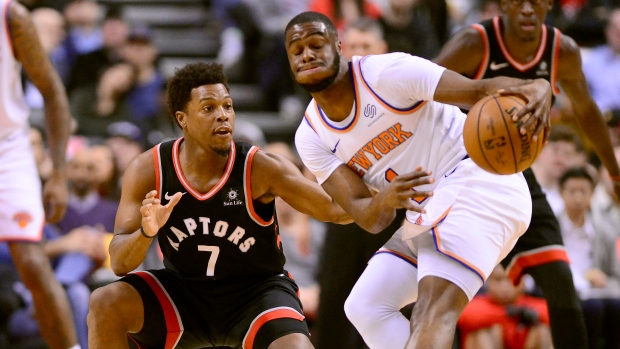 Raptors rout Knicks, lose Lowry to ankle injury - TSN ca