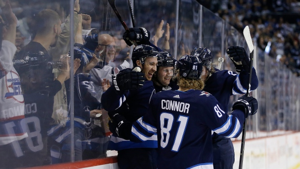 e2e506f4ba1 Connor s hat trick sends Jets to playoffs with win over Preds - TSN.ca