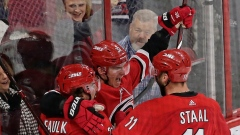 Andrei Svechnikov and Hurricanes Celebrate