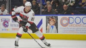 Reinhardt scores in OT, Belleville Senators extend win streak to five