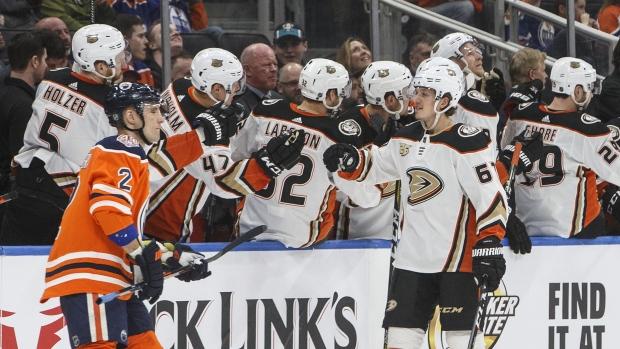 brand new 5ed89 da19b Rakell records hat trick as Ducks crush Oilers - TSN.ca