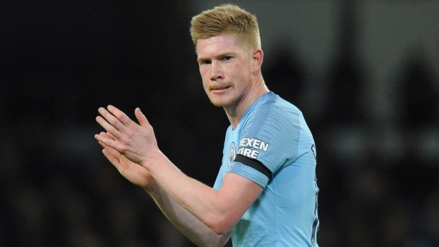 Man City's De Bruyne voted player of year by fellow pros again