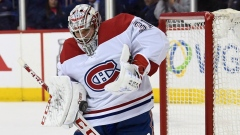 Canadiens goalie Carey Price makes a save Thursday.