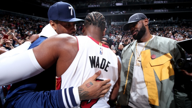 bd2d57790ae LeBron, Carmelo, Chris Paul courtside for Wade's last game - TSN.ca