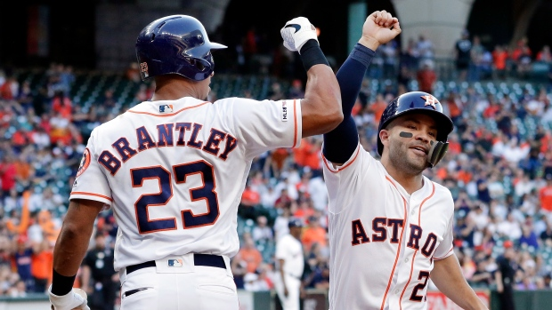the latest 4125c cad8f Altuve homers twice as Astros sweep Yanks - TSN.ca
